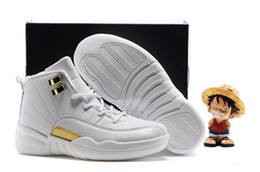 Wholesale Free Multi Games - Free Shipping Kids Air Retro 12 Playoffs Rings Ovo Taxi Flu Game Gym Red Gamma Blue Shoes,Boys Girls Retro 12s Sneakers 28-35