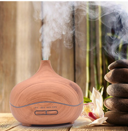 Wholesale Wholesale Aromatherapy Diffusers - Wood Grain Ultrasonic Cool Mist Humidifier Aromatherapy Essential Oil Diffuser Portable Ultrasonic Diffusers with 4 Timer Settings Waterless