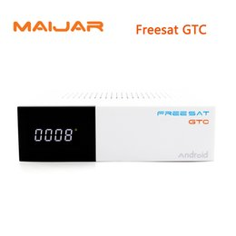 Wholesale Isdb T Receiver - Freesat GTC Satellite Receiver DVB-S2 DVB-C DVB-T2 ISDB-T 2GB RAM 16GB ROM Wifi 2.4G+BT4.0 Amlogic S905D Top set box android 6.0