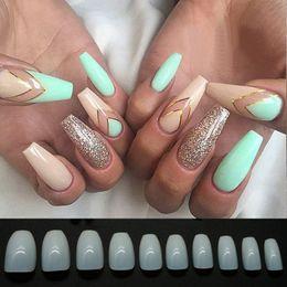 Wholesale Manicure Set Beauty Tools - 500pcs set False Nails Ballet Fake Nail Tips Full Cover Transparent Natural White Faux Nail Stickers Manicure Tools Diy Nail Beauty