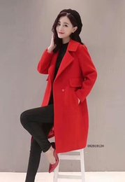 Wholesale Coa Standards - Free shipping new high-end women's wholesale wool coat in the long section of autumn and winter woolen coat collar collar with wool coa