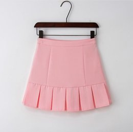 Wholesale Short Skirt College Girl - Factory direct Korean version of the new high waist short skirt college girl a word