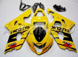 Wholesale Gsxr Black Yellow - New ABS fairing kit for SUZUKI k4 gsxr600 gsxr750 fairings set 2004 2005 04 05 GSXR 600 750+windshield+screw+Tank Pad red black yellow