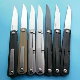 Wholesale Titanium Tools Knife - Zebra 9Cr8Mov Blade Electrocardiogram ECG ZDP189 Folding Knife Camping Hunting Survival Pocket Knives Military Outdoor Knife EDC Tools