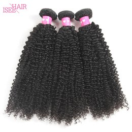 Wholesale Cheap Human Hair Weave Online - Isee Hair Brazilian Virgin Hair Curly Weave Brazilian Peruvian Malaysian Indian Kinky Curly Weaving Cheap Online Human Hair Extensions Weft