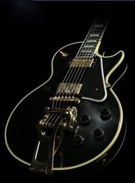 Wholesale Custom Shop Vos - Best China Guitar Custom Shop 57 Custom VOS Black ES Hollow Jazz Electric Guitar Bigs Bridge Gold Hardware Black Speed Knobs