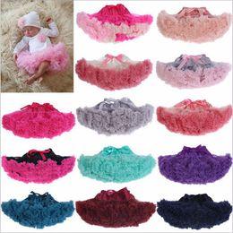 Wholesale Newborn Blouse - 20 Colors fluffy Pettiskirt baby tutu skirt Newborn Photo Props Pettiskirt Girls Petticoat suitable for 3- 24M age