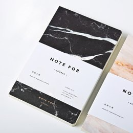 Wholesale A5 Journal - Wholesale- cute white black marble vintage travels notebooks and journals a5 with lines Exercise book school supplies writing pad planner