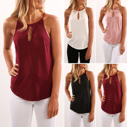 Wholesale Sexy Sun Clothes - Women Vest Loose Sleeveless Camis Tanks Tops Summer Sexy Tees Casual Sexy Tanks Sleeveless Round Collar Blouse Sun-top Women Clothing F645