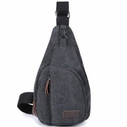 Wholesale Cell Stuff - Single Shoulder Bag Unbalanced Chest Haversack Mobile Phone Pouch Small Stuff Cross Body Men Canvas Bag Casual Outdoor Travel Sling Pack