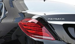 Wholesale Black Chrome Letters - ABS 3D Chrome Silver Emblem For Maybach Letters Logo Badge Nameplate Car Rear Sticker Maybach S400 S500 S600
