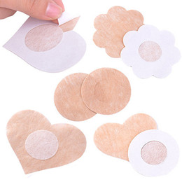 Wholesale Nipple Tape Covers - Hot Wholesale-High Quality 5 Pairs Women's Invisible Breast Lift Tape Stick on Bra Sticker Nipple Covers Dress