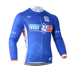 Wholesale Pro Cycling Tours - FDJ Pro team 2016 Tour de France men Cycling Long sleeve Jersey bicycle clothing mountain sport jacket maillot ropa ciclismo C3120