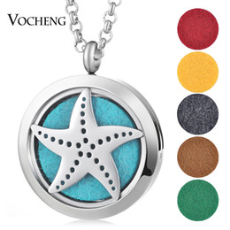 Wholesale Magnet Lockets - Round 30mm Magnet Lockets Stainless Steel Diffuser Necklace Essential Oils Aromatherapy Diffuser Lockets Necklace Vocheng jewelry VA-458