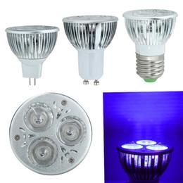 Wholesale Ultraviolet 3w - Wholesale-2016 NEW High Quality 3W E27 GU10 AC 85-265V UV LED Ultraviolet 365nm Spotlight Purple Lamp Bulb MR16 12V Violet Light