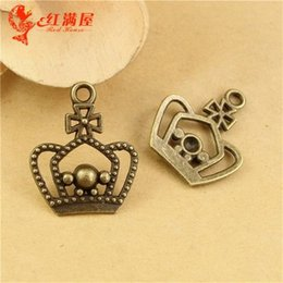 Wholesale Cheap Crown Pendants - 25*20MM Antique Bronze Vintage Retro jewelry ZAKKA crown charm pendant beads ethnic, cheap charms for sale, metal charm bulk lot