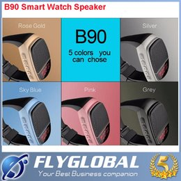 Wholesale Radio Photos - Bluetooth Speaker B90 Smart Watch Speaker Wireless Subwoofers Speaker Within Display Screen Alarm Clock Selfie Photo Multi-function