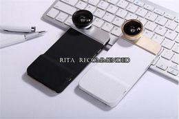 Wholesale Macro Sets - Mobile Phone Fisheye Macro Lens 0.67X Wide Angle 10X Macro Set with Phone Case Rotatable 4 in 1 Phone Camera