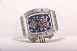 Wholesale Skeleton Date Automatic Mens Watch - Swiss Brand Luxury Men Automatic Tourbillon Wristwatch Stainless Steel RM011 Felipe Massa Flyback Date Mens Skeleton Mechanical Watches Sale
