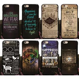 Wholesale Iphone Harry Potter - Harry Potter Marauders Hard PC Case Hogwarts Map Words Plastic Back Cover Skin Shell 2017 Fashion Hot Arrival For iPhone 8 7 Plus 6 6S 5S 5