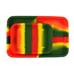 Wholesale Cigarette Tray - Silicone Rolling Tray Heat-resistant Square S Size 20cm* 15cm*2cm L Size 30cm*20cm*2cm Tobacco Handroller Cigarette Smoking Accessories