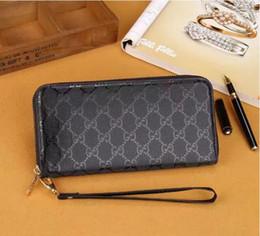 Wholesale Cheap Man Wallets - Hot! wholesale 2018 famous brand fashion single zipper cheap luxury women pu leather wallet lady ladies women