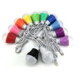 Boule en plastique globe en Ligne-Lampe colorée lampe ampoule 5vled basse pression balle en plastique lampe USB interface produits itinérants répandre la violence
