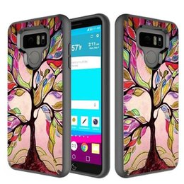 Wholesale Iphone Hybrid Pattern - For LG Stylus 3 LV3 Hybrid 2in1 Case Impact Colorful Patterns for Samsng S8 Plus J7 2017 iPhone 7 6s 6 plus Opp