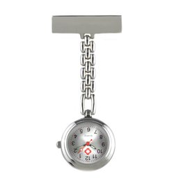 Wholesale Safety Pins Stainless Steel - Wholesale-New Portable Alloy Nurse Watch with Safety Brooch Pin Pendant Hanging Pocket Nurse Fob Watch Relog Luminous Hands Glow in Dark