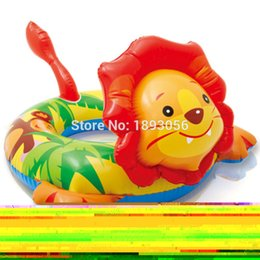 Wholesale Intex Float Ring - Wholesale- INTEX 58221 Child Swim Tubes Cartoon Animal Extra-Thick Safety Water Sport Pool Toys Inflatable Float Swimming Rings Life Buoy
