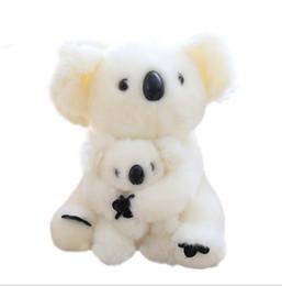 Soft koala giocattolo online-28CM Super cute Sitting Mother and Baby Koala giocattoli peluche Koala ripiene bambole Kawaii Giocattoli per bambini Cuscino morbido Bel regalo di compleanno