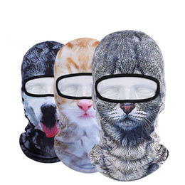 Wholesale Hot Dog Hat - Hot Sale 2017 3D Cap Dog Animal Outdoor Sports Bicycle Cycling Motorcycle Masks Ski Hood Hat Veil Balaclava UV Full Face Mask