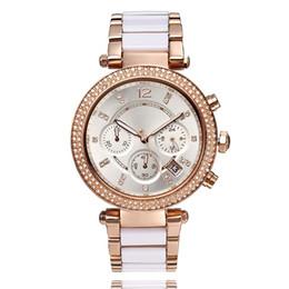 Wholesale Type Ladies Dress - New Fashion AAA korly type rhinestone Gold Watch United States casual Top Brand Luxury Ladies man Watch Steel Women Dress Clock Female Mo