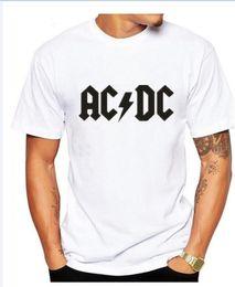 Wholesale white dc shirts - Rock band AC DC t shirt men 2017 summer 100% cotton fashion brand ACDC men t-shirt hip hop tees for fans