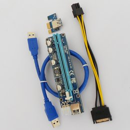 Wholesale Upgrade Card - Upgrade edition VER 008C PCI-E Riser Express Riser Card 1x to 16x 6Pin PCIe Riser Card for BTC Miner Machine100 Sets Lot Upgrade edition VER
