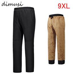 Wholesale Thick Fleece Pants Men 3xl - Wholesale- 2016 Winter Men Fleece Long Pants Solid Casual Straight Pocket Drawstring Belt Pant Soft Thick Warm Clothing plus size PA060