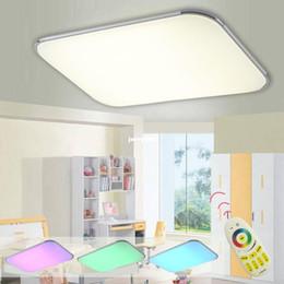 Wholesale Bedroom Group - Modern Led Ceiling Lamp Remote Group RGB Ceiling lights For Living Room Bedroom Remote Color Changing Lamp Home Lighting
