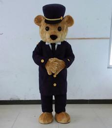 Wholesale Happy Bear Mascot - SX0725 cute brown bear mascot suit for adult happy teddy bear mascot costumes with black hat
