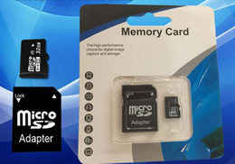 Wholesale Memory Card Retail - 16GB Micro SD TF Memory Card Class 10 With Adapter 8 gb Class 10 TF Memory Cards with Free SD Adapter Retail Package DHL EMS UPS