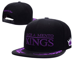 Wholesale Snap Backs King - Free shipping Sacramento Adjustable Kings Snapback Hat Thousands Snap Back Hat Basketball Cheap Hat Adjustable men women Baseball Cap