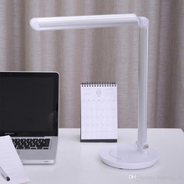 Wholesale Dc Saving Lamp - New type of multi-functional energy-saving lamp folding rechargeable02 led desk lamp USB charging contact switch output