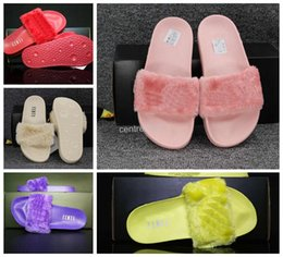 Wholesale Genuine Leather Wear - Cheap leadcat Fenty rihanna slippers indoor shoes sandals sliding wear fashionable men and women nine color