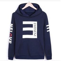 Wholesale Eminem Sweatshirts - New brand Men's Fleece Hoodies Eminem Printed Thicken Pullover Sweatshirt Men Sportswear Fashion Clothing Men's letters printed Hoodie