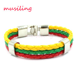 Wholesale European Style Leather Bracelet - 2017 New Leather Bracelets Pure Manual Weaving Antique Jewelry European and American style Watchband Design Accessories Jewelry