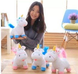 Wholesale Pink Stuffed Animals - Soft Stuffed unicorn animals toys Plush doll Unicorn Plush animal Toys Small goat plush toys Christmas Gifts for Baby Girls