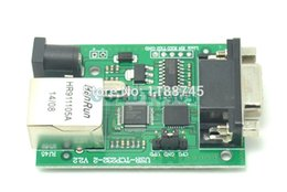Wholesale Rs232 Serial Converter - Wholesale- RS232 to Ethernet TCP IP RJ45 Converter Module Serial Device Server 10 100M