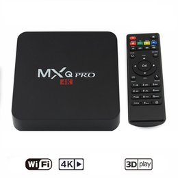 Wholesale Mx2 Google Tv - Hot MX2 MXQ PRO Quad Core Android TV BOX With Customized KD 17.3 TV Box Fully Loaded 4K Media Player
