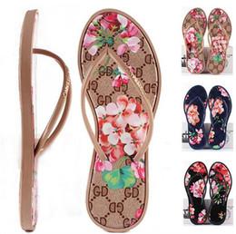 Wholesale Women Shoes Comfortable Heels - New Women Sandals Summer Fashion Flip Flops Women's Brand Shoes Flowers and Comfortable Outdoor Flat Sandal Beach Slippers