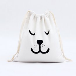 Wholesale Food Canvas Prints - First-rate Promotional Shopping Drawstring Cotton bag Custom Printed Canvas Tote Bags Drawstring storage bag Canvas bag