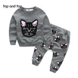 Wholesale Thick Black Girl Clothes - Wholesale- Children Sweater Girls Clothing Sets Thick Warm Sport Suit Kids Winter Long T shirt+Pants Hot Sale girls clothes set